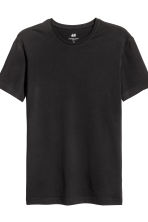 T-shirt Slim fit, 2 pz - Nero/blu scuro - UOMO | H&M IT 3