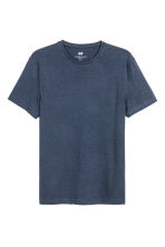 2-pack T-shirts Slim fit - Black/Dark blue - Men | H&M 2