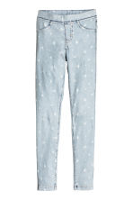 Treggings - Light denim blue/Stars - Kids | H&M CN 2