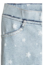 Treggings - Light denim blue/Stars - Kids | H&M CN 3