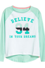 Jersey pyjamas - Mint green/White - Kids | H&M CN 3