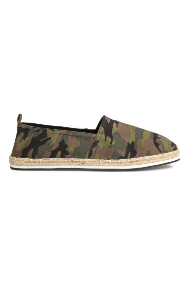 Espadrilles - Khaki/Patterned - Men | H&M CN 1