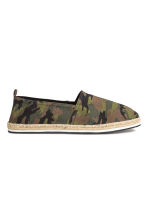 Espadrilles - Khaki/Patterned - Men | H&M 1