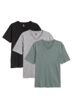 T-shirt Regular fit, 3 pz - Nero/grigio/grigio-verde - UOMO | H&M IT 1