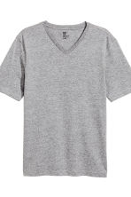 3-pack T-shirts Regular fit - Black/Grey/Grey-green - Men | H&M 2