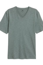 3-pack T-shirts Regular fit - Black/Grey/Grey-green - Men | H&M 3