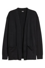 Cotton cardigan - Black - Men | H&M CN 2