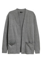 Cotton cardigan - Dark grey marl - Men | H&M 2
