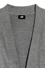 Cotton cardigan - Dark grey marl - Men | H&M 3
