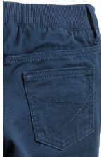 Twill trousers - Dark blue - Kids | H&M 4