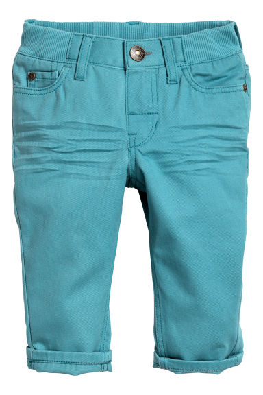 Twill trousers - Turquoise - Kids | H&M CN 1