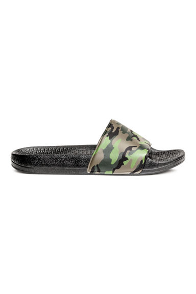 Patterned pool shoes - Khaki green/Patterned - Men | H&M CN 1