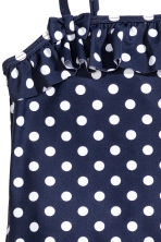 Swimsuit with a frill - Dark blue/Spotted - Kids | H&M CN 2