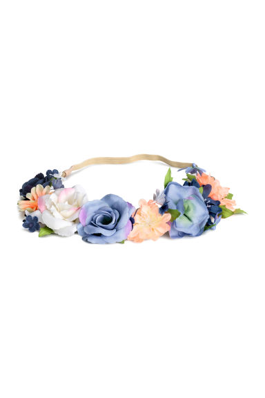 Hairband with flowers - Blue - Kids | H&M