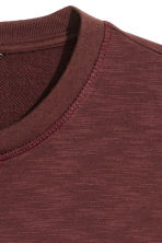 Sweatshirt - Burgundy marl - Men | H&M 3