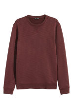 Sweatshirt - Burgundy marl - Men | H&M 2