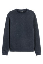 Sweatshirt - Dark blue/Neps - Men | H&M 2