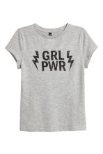 T-shirt - Grey - Ladies | H&M CN 2