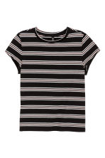 T-shirt - Black/Striped - Ladies | H&M CN 2
