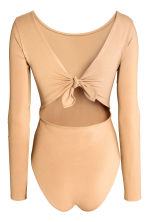 Body with tie detail - Beige - Ladies | H&M CN 3
