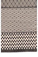 Patterned cotton rug - Natural white/Anthracite grey - Home All | H&M CN 3