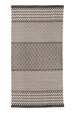 Patterned cotton rug - Natural white/Anthracite grey - Home All | H&M CN 2