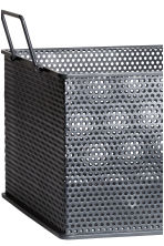Metal storage basket - Anthracite grey - Home All | H&M CN 2