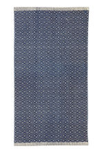 Patterned cotton rug - Dark blue/Natural white - Home All | H&M CN 2