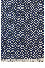Patterned cotton rug - Dark blue/Natural white - Home All | H&M CN 3