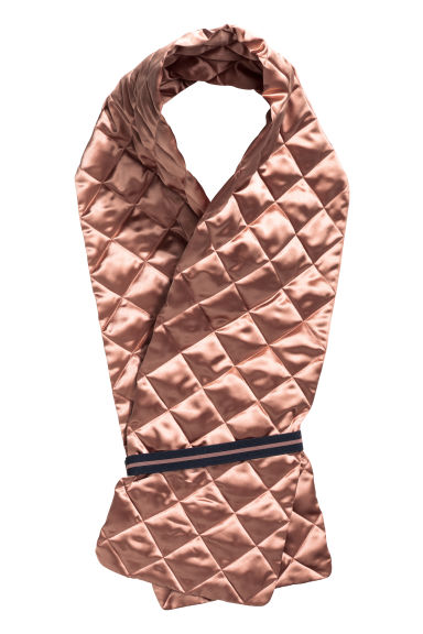 Quilted scarf - Old rose -  | H&M