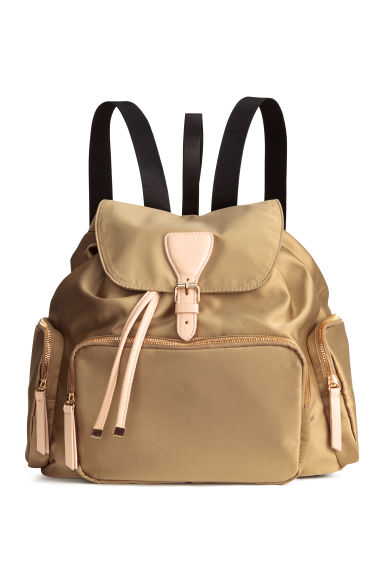 Satin backpack - Beige - Ladies | H&M CN 1