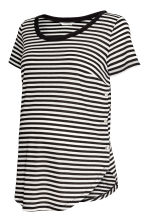 MAMA Nursing top - White/Black striped - Ladies | H&M 2