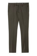 Suit trousers Skinny fit - Dark khaki green - Men | H&M CA 2