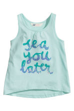Printed vest top - Mint - Kids | H&M 2