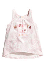 Printed vest top - White/Light pink -  | H&M 2