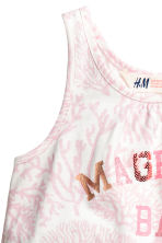 Printed vest top - White/Light pink -  | H&M 3