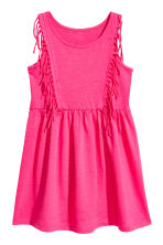 Jersey dress with fringes - Neon pink - Kids | H&M 2