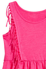 Jersey dress with fringes - Neon pink - Kids | H&M 3
