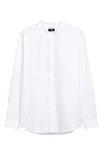 Collarless shirt Regular fit - White - Men | H&M 2