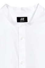 Collarless shirt Regular fit - White - Men | H&M 3
