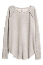 Waffled jersey top - Grey - Ladies | H&M 2