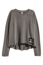 Washed-look sweatshirt - Dark grey - Ladies | H&M 2