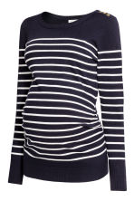 MAMA Fine-knit jumper - Dark blue/Striped - Ladies | H&M 2