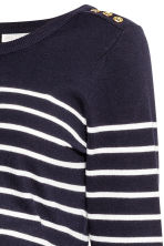 MAMA Fine-knit jumper - Dark blue/Striped - Ladies | H&M 3