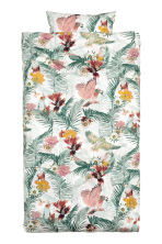 Floral-print duvet cover set - White/Birds - Home All | H&M CN 2
