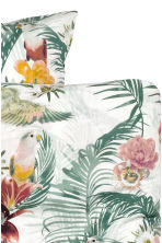 Floral-print duvet cover set - White/Birds - Home All | H&M CN 3