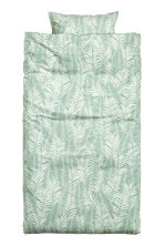 Leaf-patterned duvet cover set - Dusky green - Home All | H&M CN 2