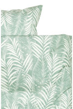 Leaf-patterned duvet cover set - Dusky green - Home All | H&M CN 3