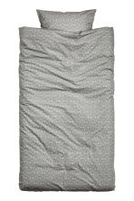 Patterned duvet cover set - Grey - Home All | H&M CN 2