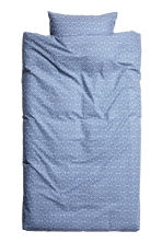 Patterned duvet cover set - Pigeon blue - Home All | H&M CN 1